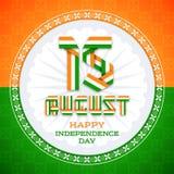 15 Augustus-het ontwerp van de groetkaart voor Indische Onafhankelijkheidsdag Royalty-vrije Stock Afbeelding