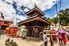 18 augustus, 2014 - Hindoese tempel in Katmandu, Nepal Royalty-vrije Stock Foto