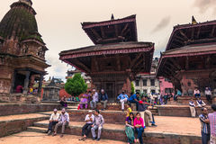 18 augustus, 2014 - Hindoese tempel in Patan, Nepal Royalty-vrije Stock Foto's