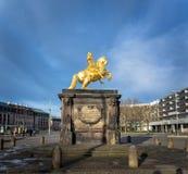 Augustus II la estatua fuerte Foto de archivo libre de regalías