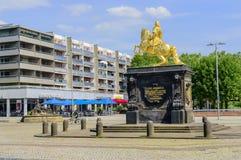Augustus II la estatua fuerte en Dresden Fotografía de archivo libre de regalías