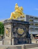 Augustus II la estatua fuerte en Dresden Foto de archivo