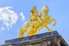 Augustus II la estatua fuerte en Dresden Imagen de archivo