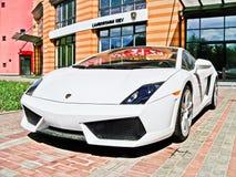 6 Augustus 2010 Kiev, de Oekraïne Lamborghini Gallardo-L.P. 560-4 560hp royalty-vrije stock afbeeldingen