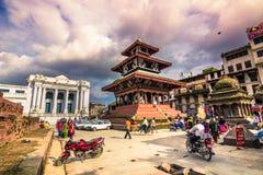 19 augustus, 2014 - Koninklijk Vierkant van Katmandu, Nepal Stock Afbeeldingen