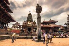 18 augustus, 2014 - Koninklijk vierkant van Patan, Nepal Stock Afbeeldingen