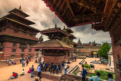 18 augustus, 2014 - Koninklijk vierkant van Patan, Nepal Stock Afbeelding