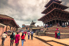 18 augustus, 2014 - Koninklijk vierkant van Patan, Nepal Stock Fotografie
