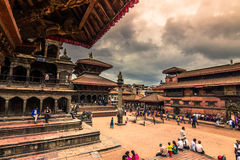 18 augustus, 2014 - Koninklijk vierkant van Patan, Nepal Stock Foto's