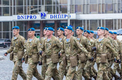 24 augustus, 2016 Kyiv, de Oekraïne Militaire parade Stock Foto's