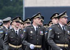 24 augustus, 2016 Kyiv, de Oekraïne Militaire parade Stock Fotografie