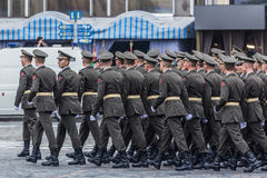 24 augustus, 2016 Kyiv, de Oekraïne Militaire parade Royalty-vrije Stock Foto