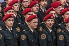 24 augustus, 2016 Kyiv, de Oekraïne Militaire parade Stock Afbeelding