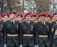 24 augustus, 2016 Kyiv, de Oekraïne Militaire parade voor Ukrainia Stock Afbeelding