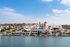 23 augustus 2017 - Lipsi-eiland, Griekenland - de schilderachtige haven van Lipsi-eiland, Dodecanese, Griekenland Royalty-vrije Stock Foto