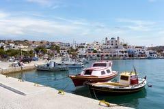 23 augustus 2017 - Lipsi-eiland, Griekenland - de schilderachtige haven van Lipsi-eiland, Dodecanese, Griekenland Royalty-vrije Stock Afbeelding
