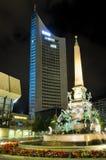 Augustus Platz em Leipzig Fotografia de Stock Royalty Free