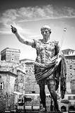 Augustus, the Roman emperor. Augustus` statue, the Roman Emperor. Black and white photo Royalty Free Stock Photography