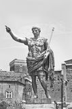 Augustus: the Roman emperor. A statue of Augustus, the Roman emperor. Black and white photo Royalty Free Stock Photos