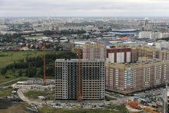 17 augustus, 2018, Rusland, Tyumen, lucht toont stock afbeeldingen