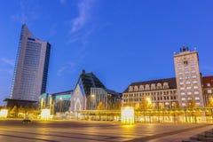 Augustus Square in Lipsia fotografia stock