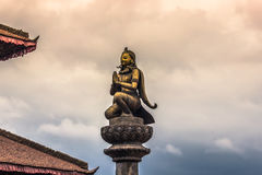 18 augustus, 2014 - Standbeeld van deity in Patan, Nepal Stock Foto