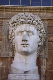 Augustus. Stone head of the emperor Augustus in The Vatican, Rome, Italy stock photo