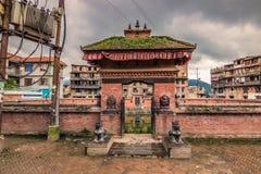 18 augustus, 2014 - Tempel in Bhaktapur, Nepal Royalty-vrije Stock Fotografie