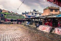 18 augustus, 2014 - Tempel in Bhaktapur, Nepal Royalty-vrije Stock Afbeeldingen