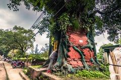 18 augustus, 2014 - Tempel in Bhaktapur, Nepal Royalty-vrije Stock Foto