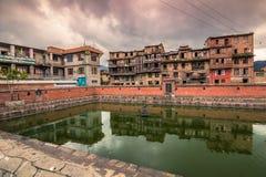 18 augustus, 2014 - Tempel in Bhaktapur, Nepal Stock Afbeeldingen