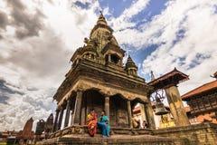 18 augustus, 2014 - Tempel van Bhaktapur, Nepal Stock Foto