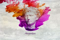 Roman Emperor Augustus. Augustus was a Roman statesman and military leader who was the first Emperor of the Roman Empire, controlling Imperial Rome from 27 BC stock illustration