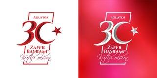 30 augustus Zafer Bayrami Stock Fotografie