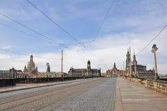 Augustusbrücke Bridge, Dresden (Germany) Royalty Free Stock Photography