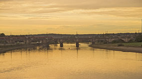 Augustusbrug, Dresden, Duitsland Royalty-vrije Stock Afbeeldingen