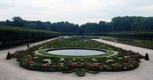 Augustusburg Gardens, Germany. Formal gardens of the Augustusburg Castle, Bruhl, Germany Stock Photo