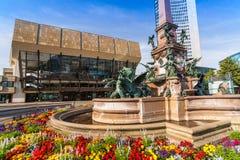 Augustusplatz,市莱比锡 库存图片