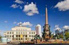 Augustusplatz em Leipzig Fotografia de Stock Royalty Free