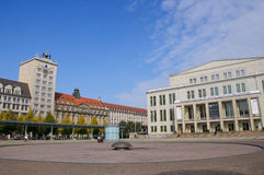 Augustusplatz - Leipzig, Alemanha Fotos de Stock Royalty Free