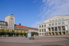 Augustusplatz - Leipzig, Duitsland Royalty-vrije Stock Foto's