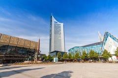 Augustusplatz stad av Leipzig Royaltyfria Bilder