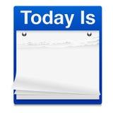 Aujourd'hui est graphisme de calendrier Images libres de droits