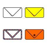 Aujourd'hui, nous avons besoin d'enveloppes pour envoyer des actualités illustration libre de droits