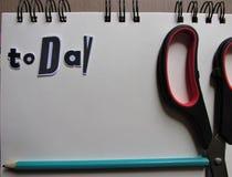 Aujourd'hui but remarquable avec le stylo photos libres de droits