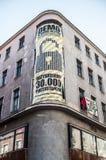 Aukcja budynek przy Paderewski 1 i manifestacja Zdjęcia Stock