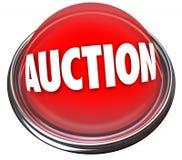 Aukcyjnej guzika Rozblaskowego światła rzeczy sprzedaży Wysoki licytant Fotografia Stock