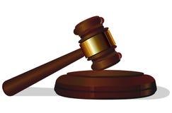 Aukcyjny prawo sądu młot na białym tle Zdjęcia Stock