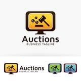 Aukcyjny wektorowy loga projekt Fotografia Stock