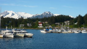 Auke Bay Harbor, Alaska Royalty Free Stock Photos
